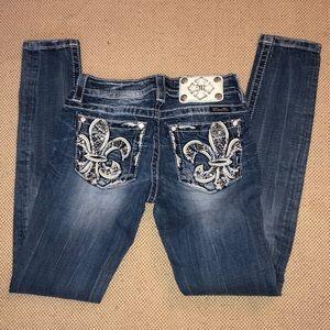 Miss Me embellished signature skinny jeans
